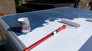 painting the luton campervan roof