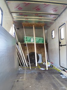 insulating luton motorhome conversion