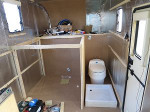 Motorhome toilet build