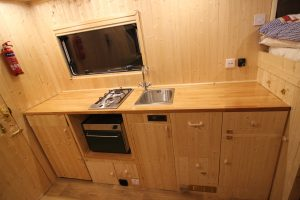 Finished motorhome kitchen
