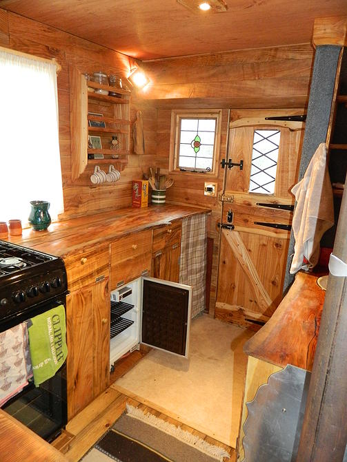 Kitchen in Luton camper conversion